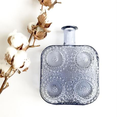 Riihimaen Lasi  Grapponia/リーヒマエンラシ グラッポニア ガラスボトル青(フラワーベース)