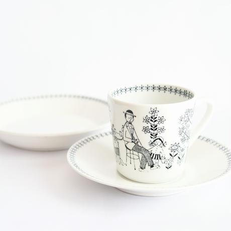 ARABIA/Emilia (アラビア/エミリア)コーヒーカップソーサートリオNo.2