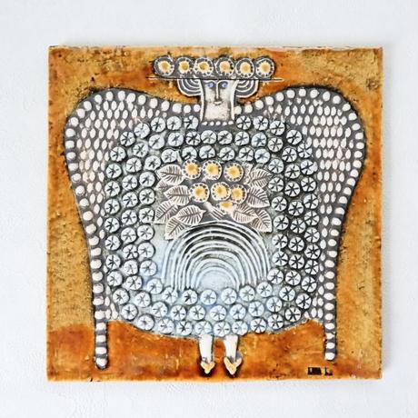 GUSTAVSBERG/Lisa Larson/UNIK Dam グスタフスベリ/リサラーソン UNIK 貴婦人 壁掛け陶板