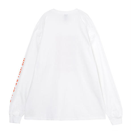 Lined up ロングTシャツ(WHITE)