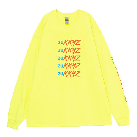 Lined up ロングTシャツ₍YELLOW)