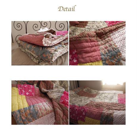 en fil d'Indienne オンフィルダンディエンヌ マルチキルトカバー Jaipur ecru 160x160