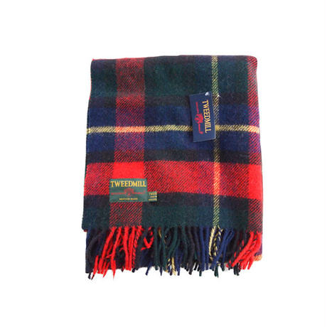 Tweedmill ツイードミル Traditional tartan throw 70x183 red