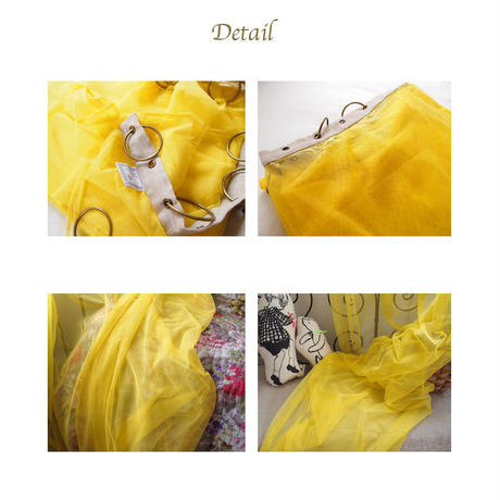 en fil d'Indienne カーテン Tulle curtain yellow 120x300