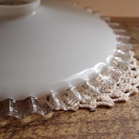 Brocante ミルクグラス ランプシェード