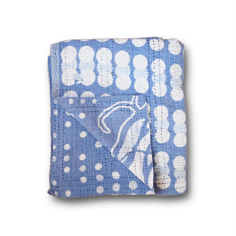 Jeanette farrier kantha stole ジャネットファリア カンタストール blue