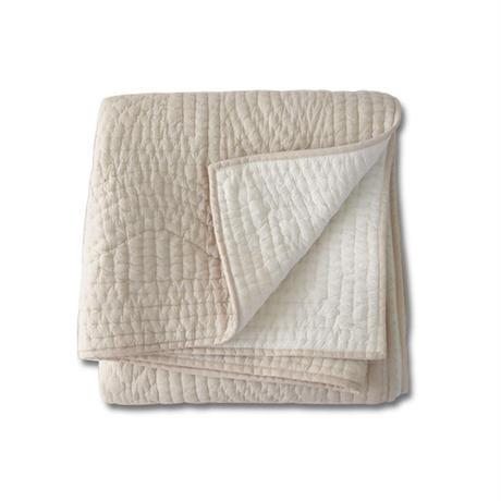 en fil d'Indienne オンフィルダンディエンヌ マルチキルトカバー Basic beige 160x160
