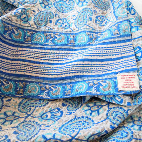 Jeanette farrier kantha stole ジャネットファリア カンタストール blue2