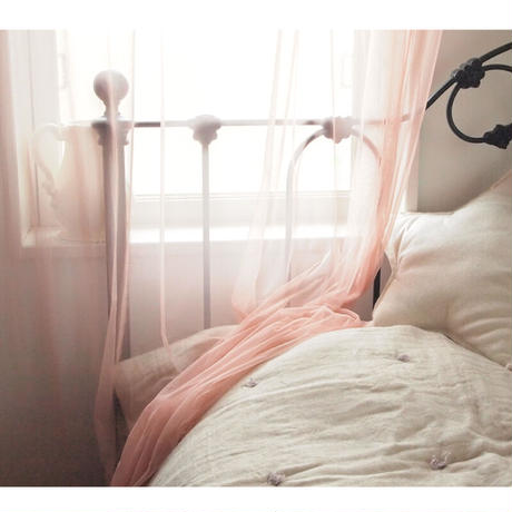 *en fil d'Indienne カーテン Tulle curtain dragee 120x300