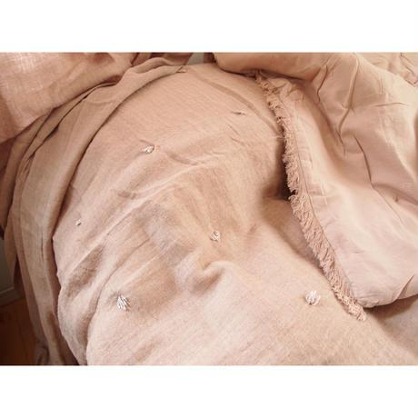 en fil d'Indienne マルチキルトカバー リネンetamine 90x200