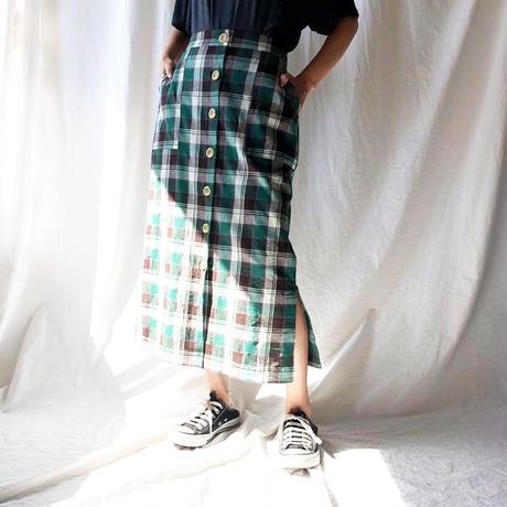 STEVIE・マドラスチェックタイトスカート(9S25002J)
