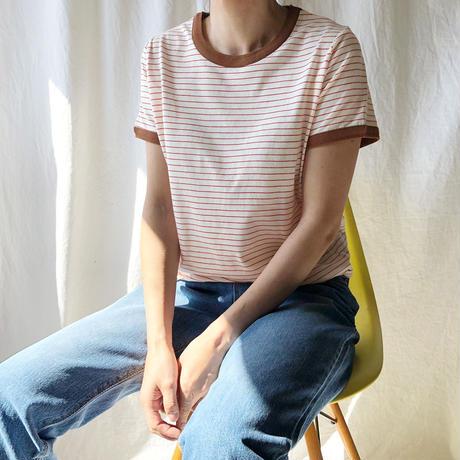 STEVIE・ボーダーリンガーTシャツ(9S22000H)