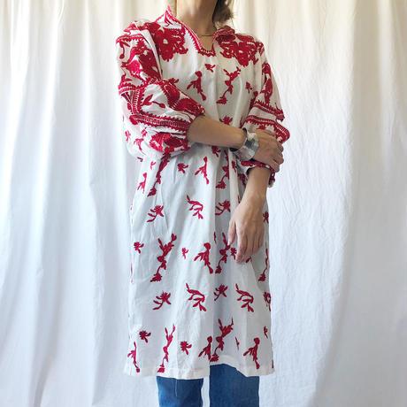 WHOO-AA・肩あき刺繍チュニ(W9S3041)
