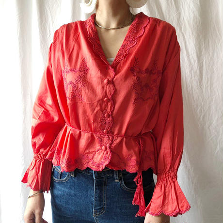 Manic Monday・Classic Embroidery Blouse(8P61000E)