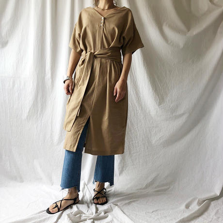 Manic Monday・Linen Cocoon Dress(9S63005E)