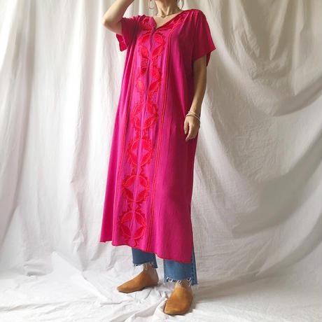 DAZZLE・Center Embroidery Long Dress(9S33002E)