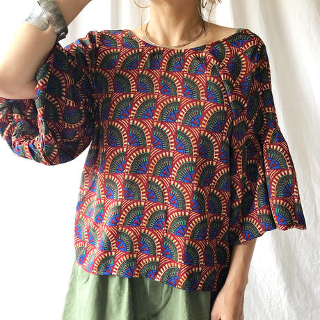 Manic Monday・African Volume Sleeve Top(9S62008U)