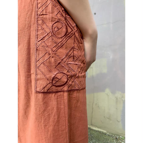 DAZZLE・Linen Cotton Embroidery Skirt(0S35001E)
