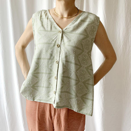 Manic Monday・African Sleeveless 2way TOP(9S62005E)