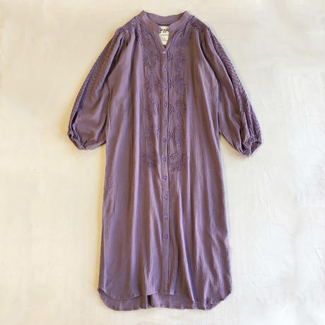 DAZZLE・Embroidery Blouse Dress(8P33010E)