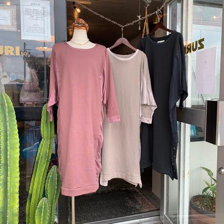 DAZZLE・Dolman Different material Dress(0W33020E)