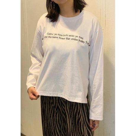 BAD・ポエム刺繍T-シャツ (0W12017E)
