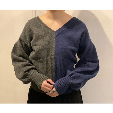 STEVIE・2way Bicolor Cardigan(0W26003o)