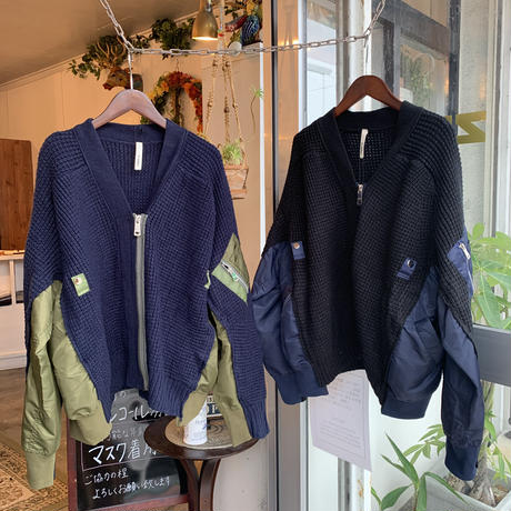 WHOO-AA・MA-1 Combination Knit(W0W6032)