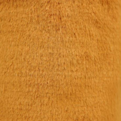 ペット用骨壺カバー / サイズ:4寸 / ベース:ブラウン / ボンボン:ブラウン・黒・クリーム / しっぽ:クリーム(S206)