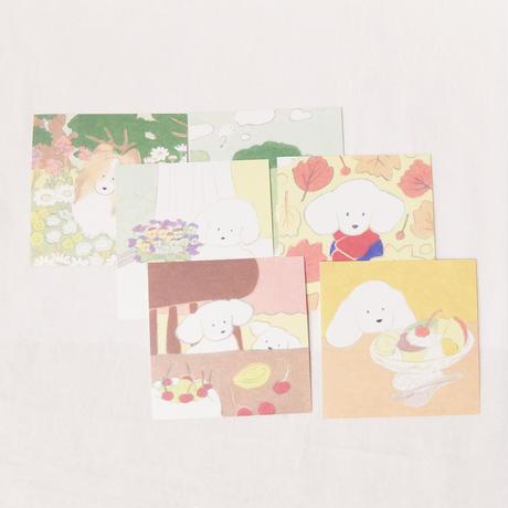 正方形ポストカード6枚set(てらおかなつみ)