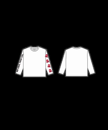 ロングTシャツA : WHITE (KEEP MOVINGロゴ)