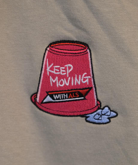 KEEP MOVING T-SHIRT (SILVER GRAY)