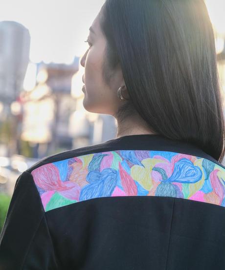 01BORDERLESS WEARジャケット Wearable ART×kanoco Lサイズ