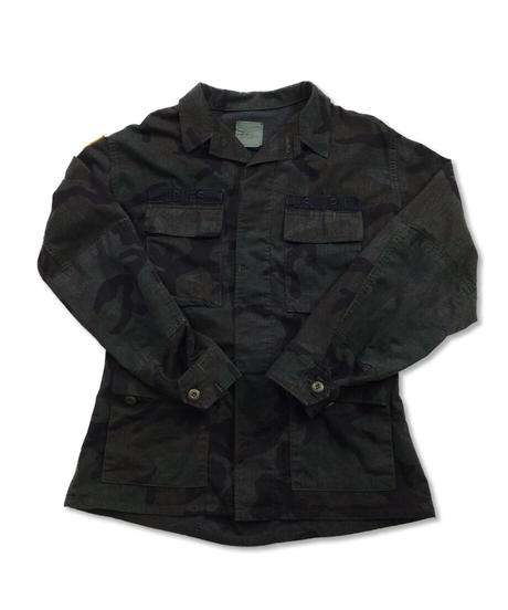 Military Jacket   NAVY(OVERDYE) Size MEDIUM #001