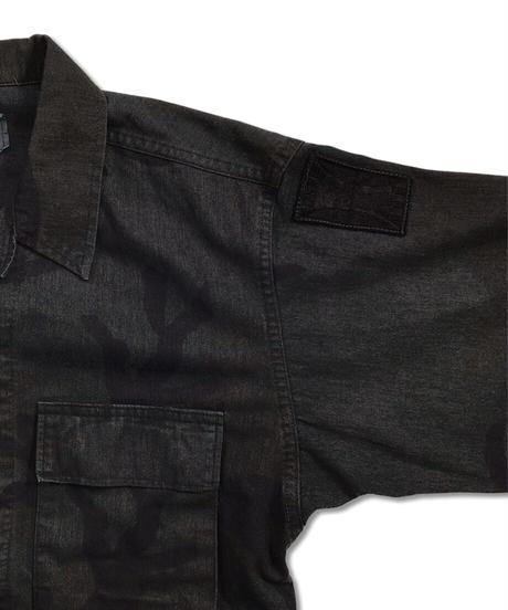 Military Jacket   NAVY(OVERDYE) Size SMALL #001