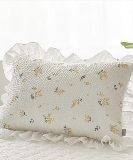 小花柄枕カバー