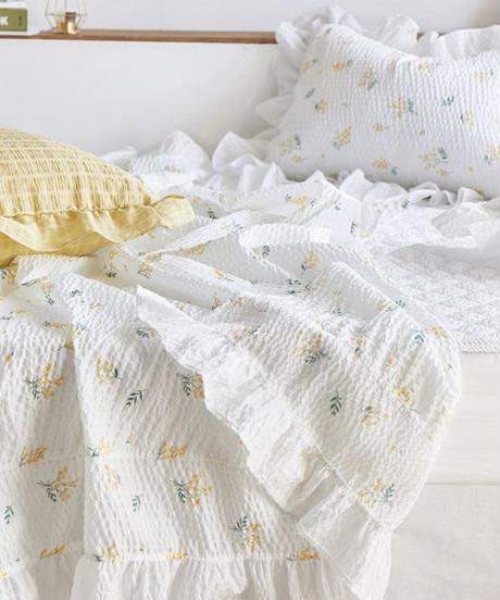 小花柄ガーゼケット枕カバーセットS