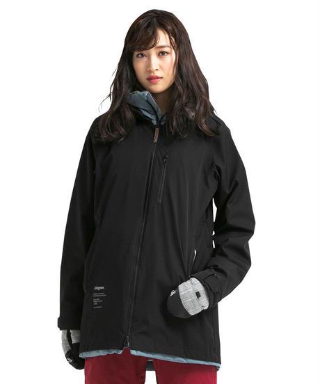 Straight Zip Jacket - Black