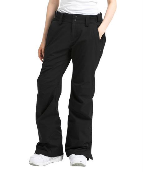 Stretch Straight Pants - Black