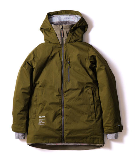 Straight Zip Jacket - Khaki