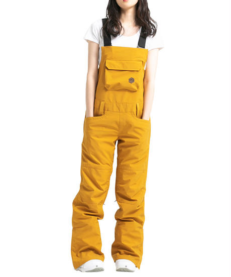 Stretch Bib Pants - Mustard