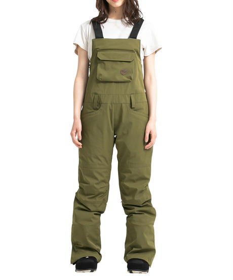 Stretch Bib Pants - Khaki