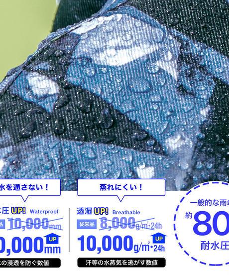 43DEGREES レインポンチョ - Snow Mountain B