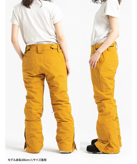 Stretch Straight Pants - Mustard