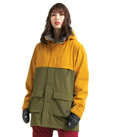Bicolor Jacket - Mustard/Khaki
