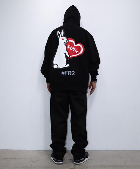 【GLR237】 HEART RABBIT HOODIE【RED】