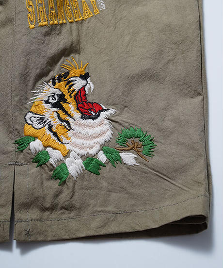 SEVESKIG セヴシグ / EMBROIDERY WIDE SHORT PANTS エンブロイダリーワイドショートパンツ ショーツ / PT-SV-HS-1012