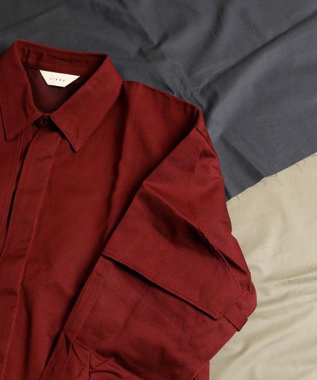 【全2色】JieDa ジエダ /  GABADINE FLAP SHIRT ギャバジンフラップシャツ / Jie-20W-SH07-A