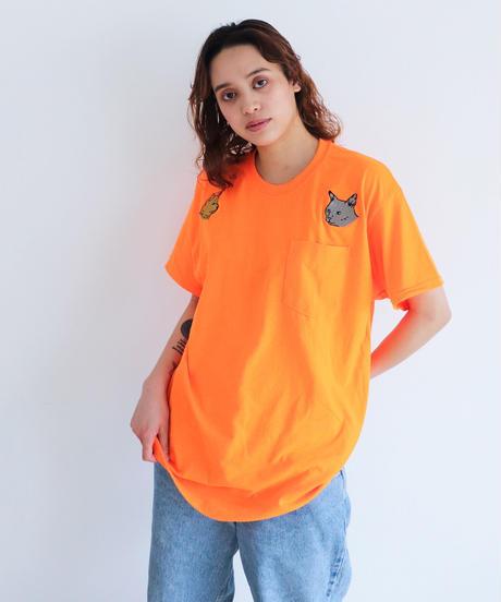 AlexanderLeeChang アレキサンダーリーチャン / KITTEN DOGGY T 犬猫刺繍ポケットTシャツ