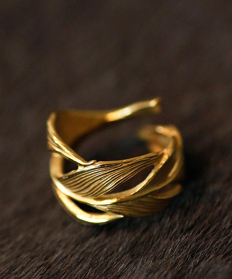 HARIM ハリム / Owl Feather ring K18coating リング / HRR015 G